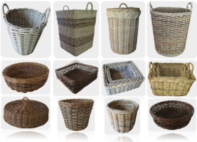 Rattan Wicker Baskets Wicker Storage Baskets Wicker Bicycle Baskets Wicker Rattan Baskets Manufacturer In Indonesia
