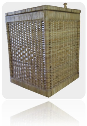 rattan basket square hamper