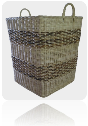 rattan basket square hamper with banana leaf