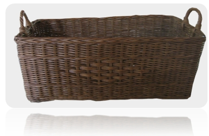 square storage basket brown
